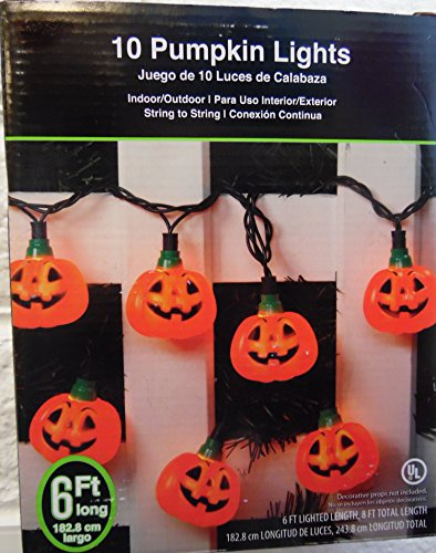 Halloween String Lights Indoor : Shop for 10 Pumpkin Halloween String Lights Indoor Outdoor Decoration