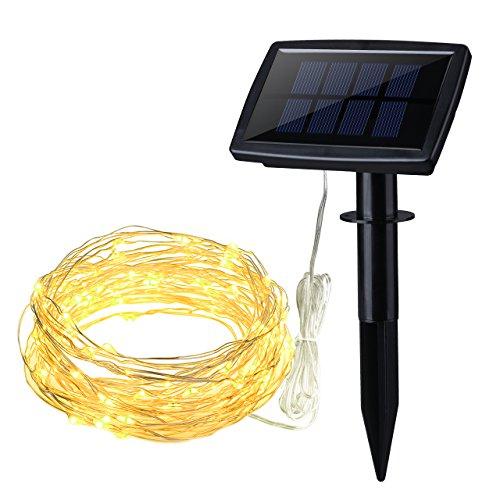 Novelty Solar String Lights Outdoor : Shop for Cymas Solar String Lights 100LED Outdoor Fairy Decorative Light for Garden, Patio ...