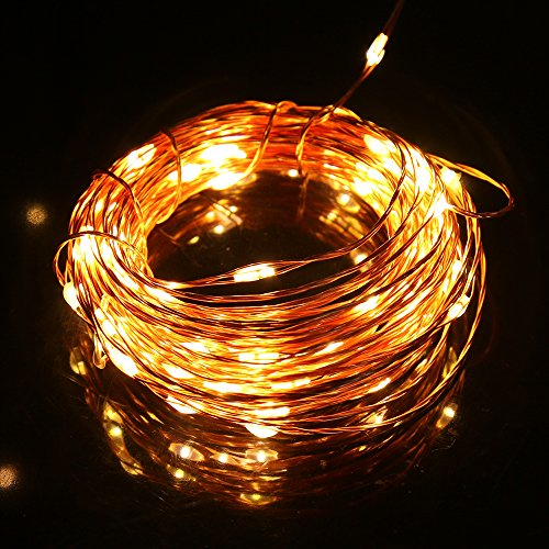 String Lights Dimmable : Shop for Dimmable LED String Lights, Noza Tec 33Ft/10M Waterproof Copper Wire Lights, Warm White ...