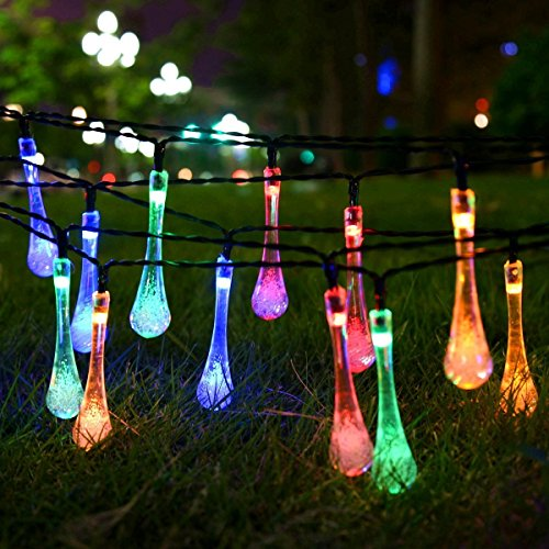 Outdoor String Lights Multicolor : Shop for Jinggle LED Water Drop String Lights for indoor & outdoor decoration (Multi-color)