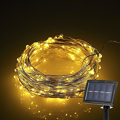 Hardwired Outdoor String Lights : Shop for Lightess Solar String Christmas Lights Micro LED Copper Wired Lighting for Outdoor ...