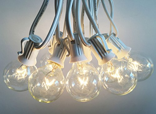 Clear Globe String Lights 100 Ft : Shop for Outdoor Light String 100ft Globe Patio String Lights - 100 foot White Light Strings w ...