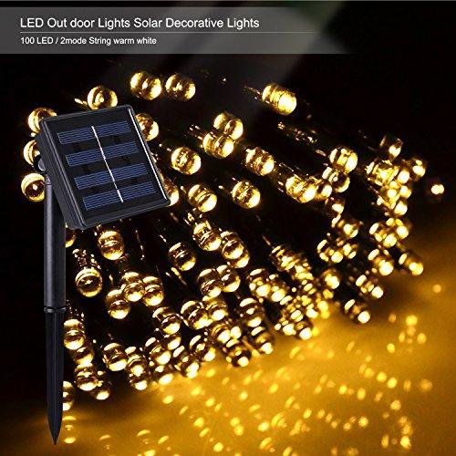Novelty Solar String Lights Outdoor : Shop for Outdoor Solar Power Decorative String Lights, Costech 100 LED 33 ft Water resistant ...