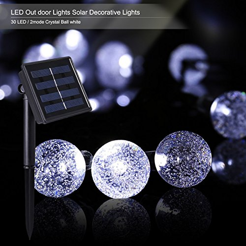 Shop for Outdoor Solar Power Decorative String Lights, Costech 30 LED 20 ft Water resistant ...
