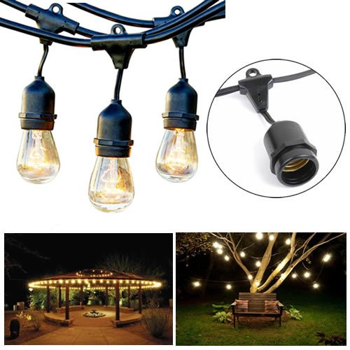Heavy Duty Patio String Lights : Shop for Outdoor String Lights - 48 Feet Long Heavy Duty Hanging Market Patio Cafe Pergola Rope ...
