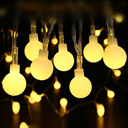 Led Globe String Lights Indoor : Shop for PeaceJoy 100 LED Globe Light Strings Indoor Outdoor Decoration String Lights (10M, Warm ...
