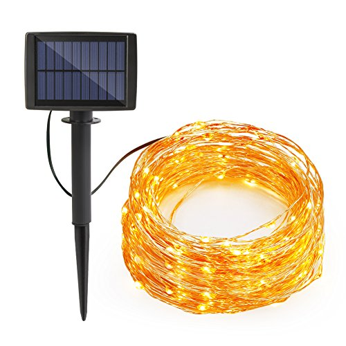 Shop for Syntus Upgraded 33 Ft 8 Modes 100 LED Outdoor String Lights Solar Decorative Light For ...